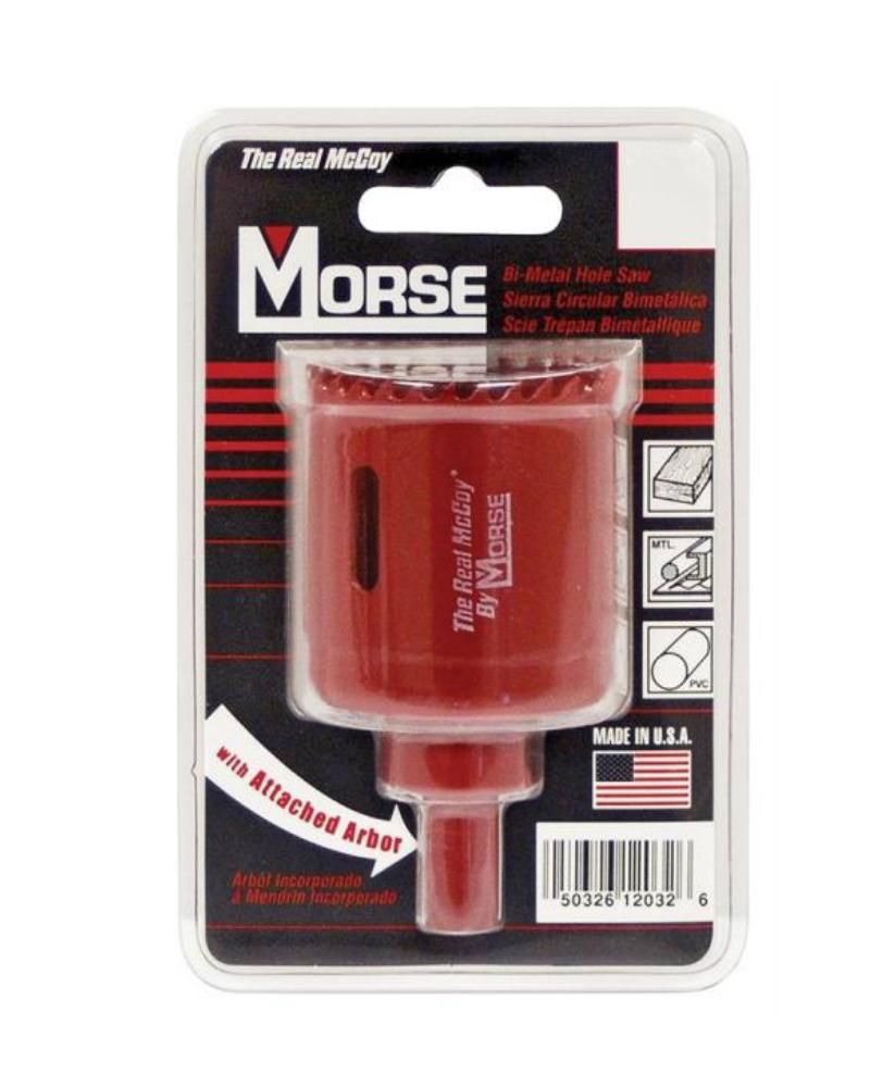 Mk Morse Mhsa44c Tac44 Real Mccoy Bi Metal Hole Saw Red 2 3 4 Hole Saw Best Chips High Speed Steel