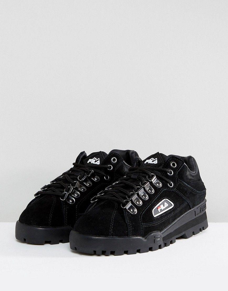 e2eaaeeb647 Fila Trailblazer Sneaker In Black - Black   Vêtements et beauté ...