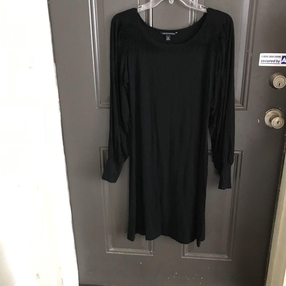 Banana republic medium stretch black dress in dresses