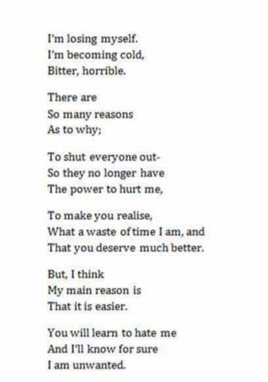 Självmords citat