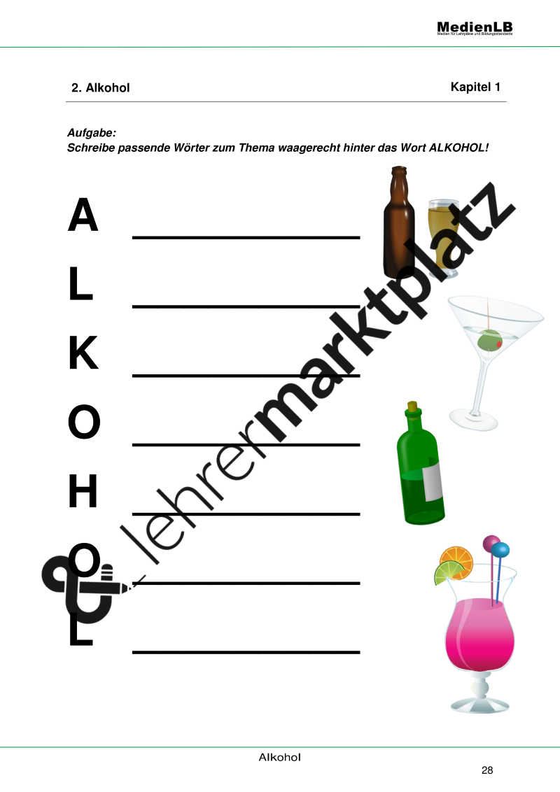 Alkohol, Gewohnheit und Wirkung – Biologie, Philosophie, Projekte ...