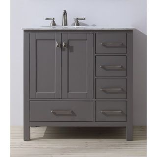 Contemporary Bathroom Vanities 36 Inch stufurhome 36 inch malibu grey single sink bathroom vanity