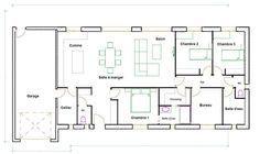 plan maison 120m2 plain pied - Plan Maison Plain Pied 120m2
