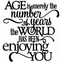 Silhouette Design Store: Age - World Enjoying You Birthday - Vinyl Phrase