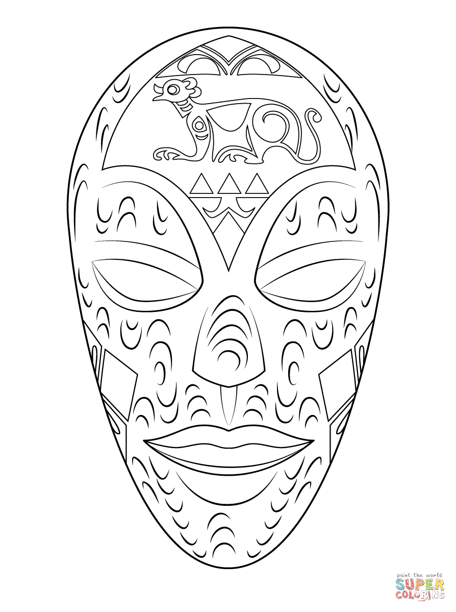 Free Mask Coloring Pages With Masks | Coloring For Kids | Pinterest