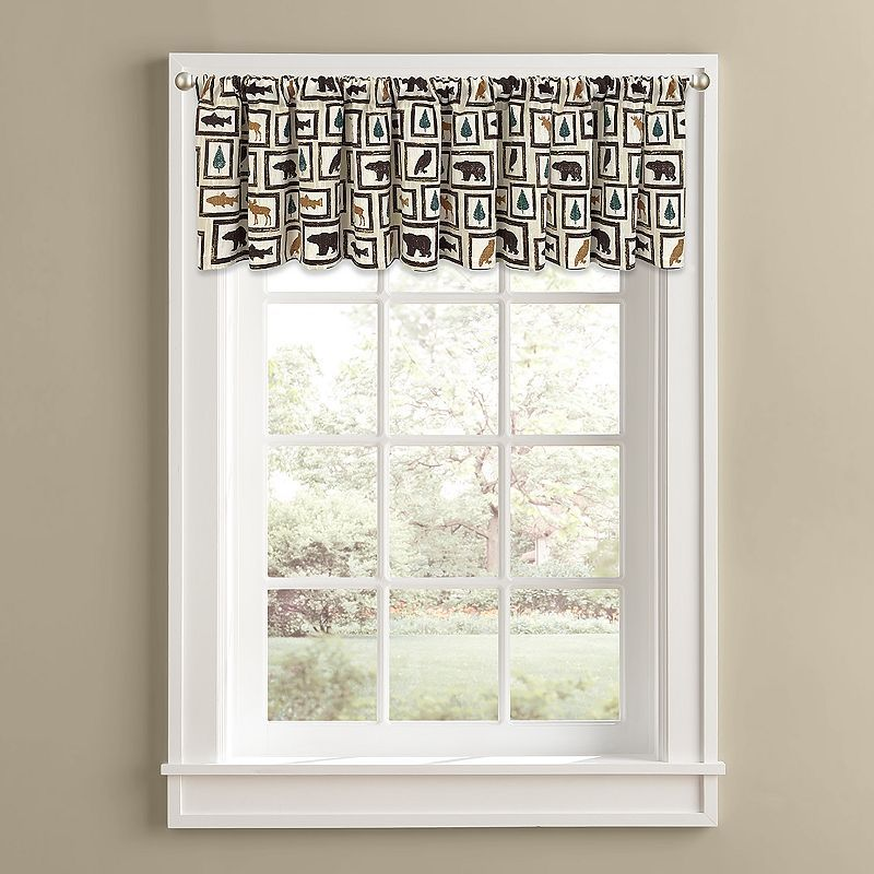 Colordrift Cabin Frames Valance - 60'' x 14'', Brown