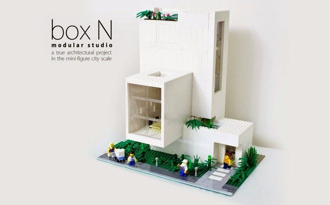 lego creations modern mini houses