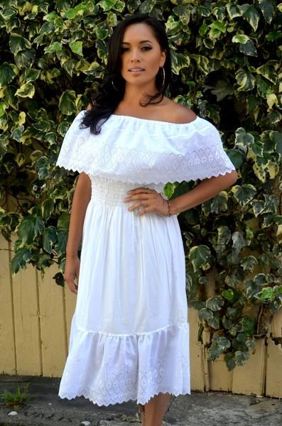 420aec9298c White Mexican Off Shoulder Dress Dress Tunic Eyelet Trim. Description Zise  Reserve listing Dress for Diane franco beltThis One of a Kind authentic  Mexican ...