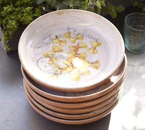 Alfresco Pasta Bowl Pottery Barn Pasta Bowls Pottery