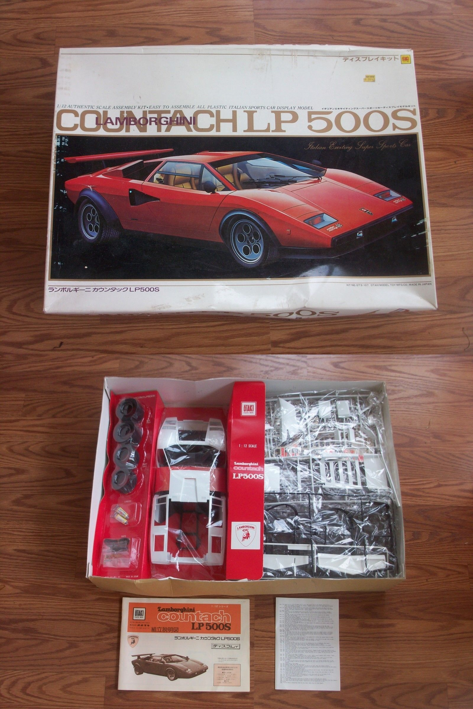1 12 Scale 145972 Vintage Model Kit Otaki Countach Lp 500s