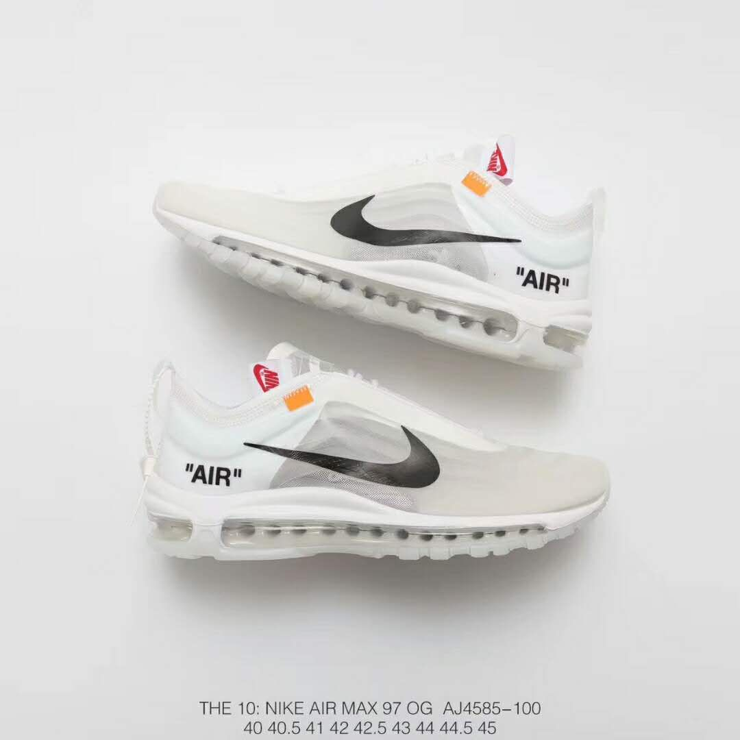 OFF WHITE X NIKE the ten AIR MAX 97 AJ4585 100 in 2019