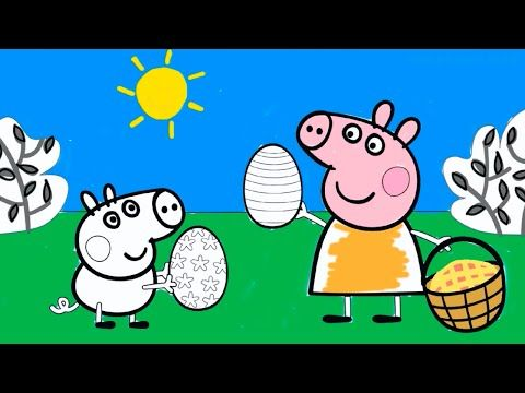 Mummy Pig 39 S Birthday Breakfast In A Bed Peppa Pig Coloring Book Pages With Colored Markers Youtube Coloring Book Pages Youtube Coloring Books