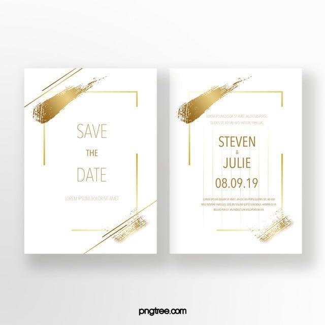 Photo of Golden Ink Ink Effekt Typografie Hochzeitseinladung