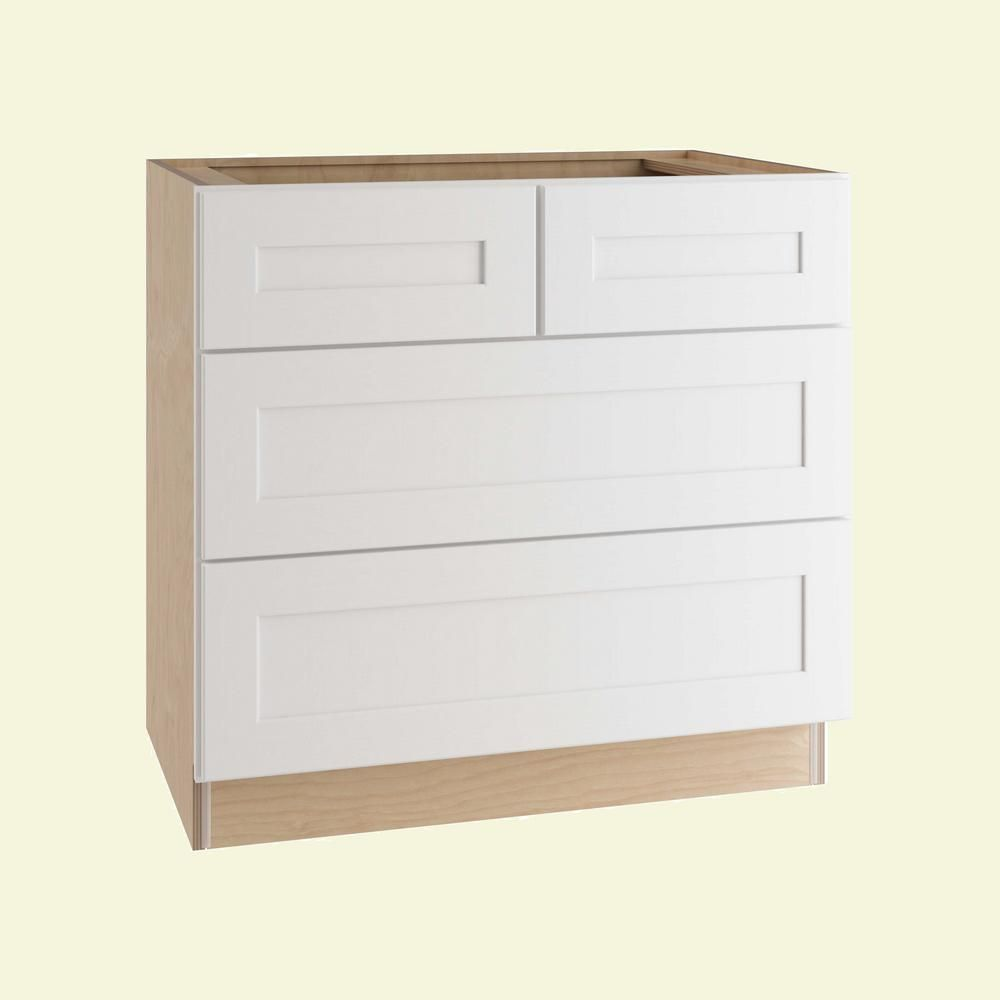 Home Decorators Collection Newport Assembled 36 In X 34 5 In X 24 In Base Kitchen Cabinet With 4 Drawers In Pacific White In 2019 Kitchen Cabinets Stock Kitchen Cabinets Shaker Style Doors