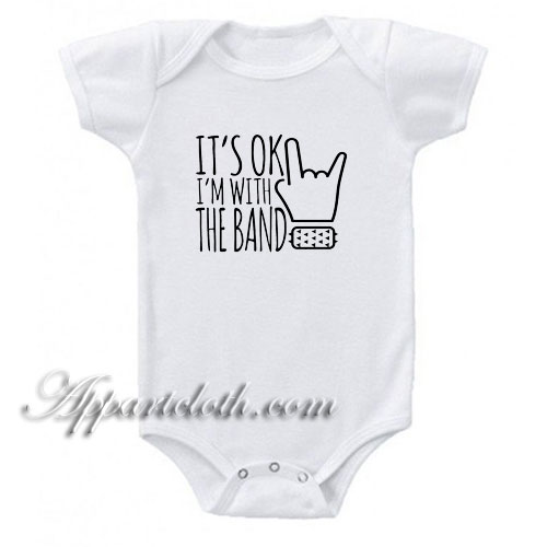 I M With The Band Funny Baby Onesie Funny Baby Bodysuit Funny Baby Onesies Funny Baby Bodysuit Baby Onesies
