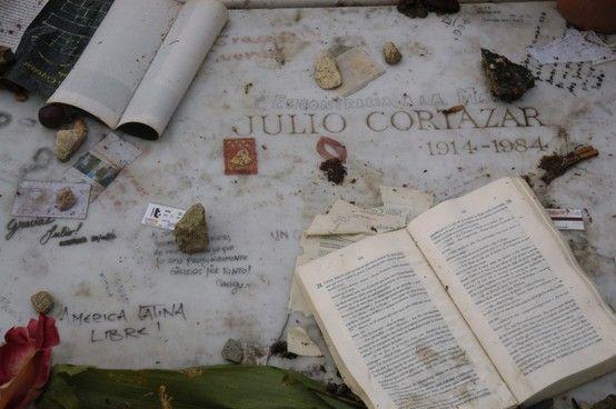 Julio Cortázar. Cementerio de Montparnasse, París.