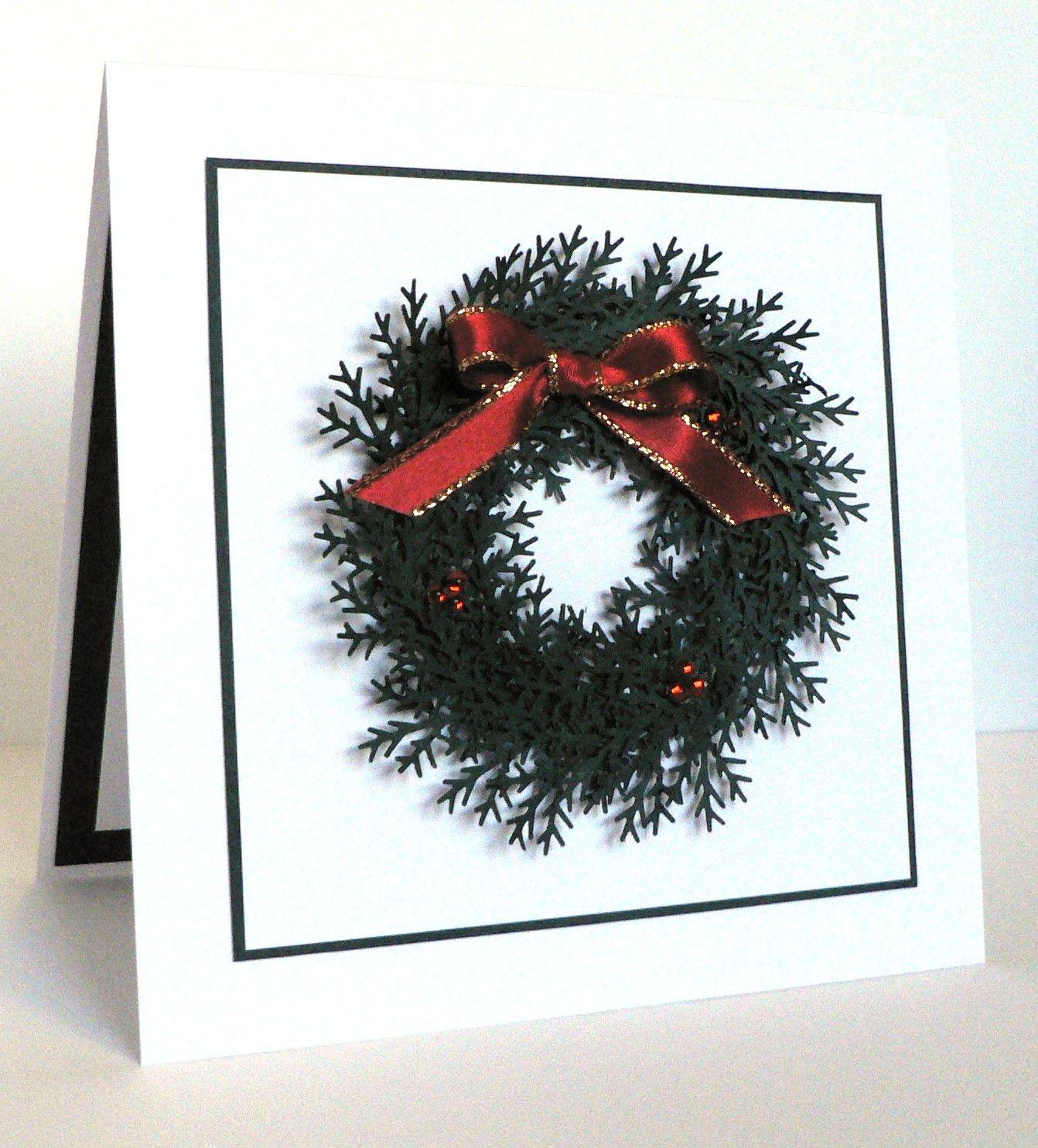 Lil Bit Of Me: Christmas Wreath Card / Martha Stewart Pine Branch ...