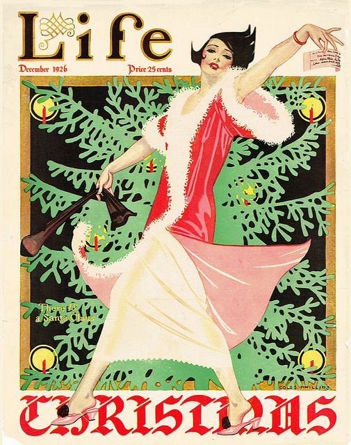 Life Christmas cover by Coles Phillips, 1926 * 1500 free paper dolls