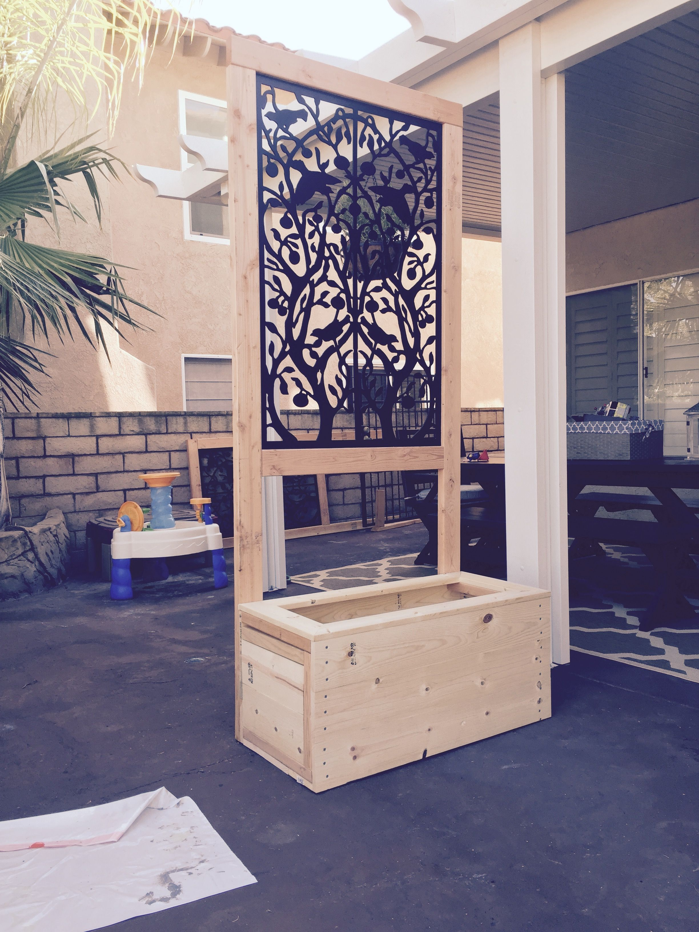 apartment patio privacy ideas wonderful manhattan   The tiles were purchased at HD Acurio Latticeworks for $30 ...