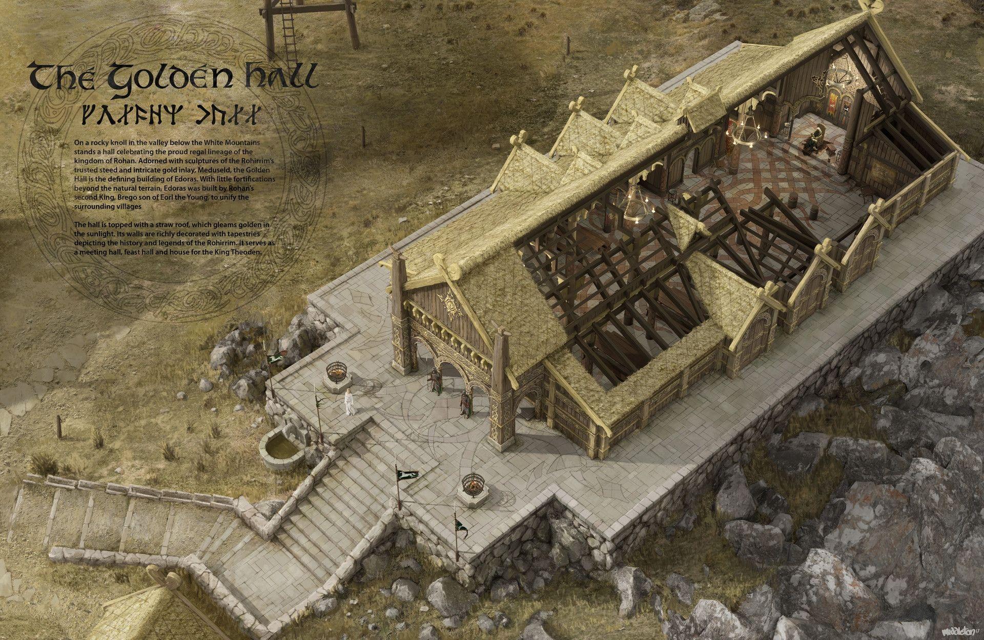 Meduseld in Edoras, Rohan | Mittelerde, Herr der ringe, Erde