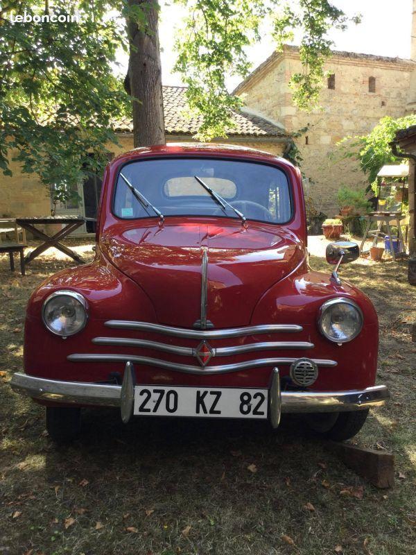 4 cv renault 1959 v hicule de collection voitures tarn et garonne rouge. Black Bedroom Furniture Sets. Home Design Ideas