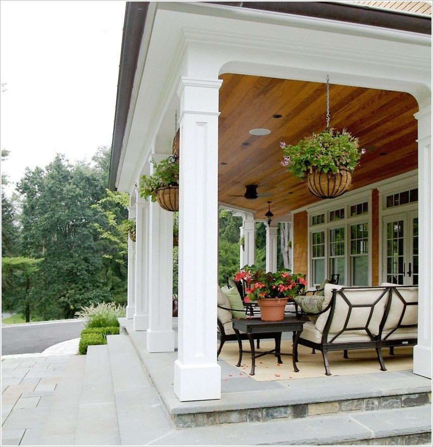 Outdoor Smart And Creative Design Front Porch Ideas: Covered Patio Designs For You To Get Inspired! In 2019