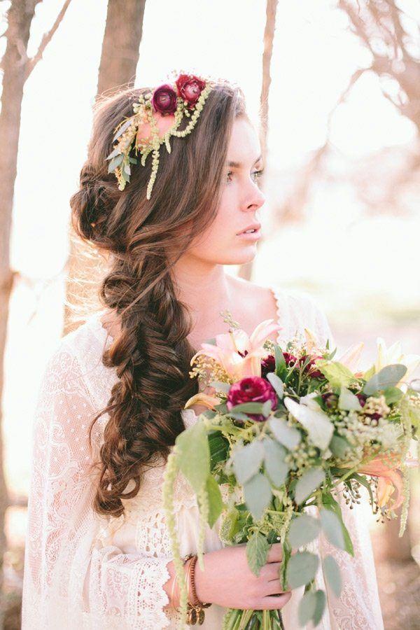 Coiffure mariage cheveux longs et coiffure mariage mi long