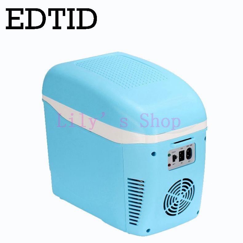 EDTID MINI Fridge Portable Car household Electric Refrigerator auto