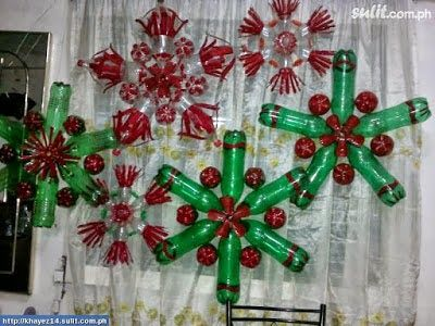 How to recycle recycled christmas lanterns craft ideas for Plastic bottles decoration pieces