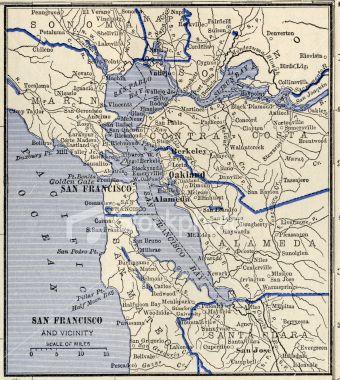 San Francisco Antique Map Vintage Maps Antique Maps And San - Vintage sf map