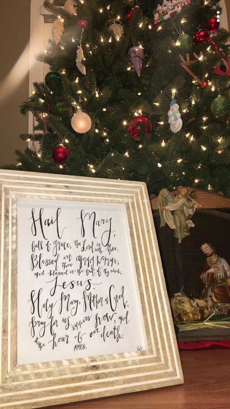 Hail Mary Art Holiday decor, Decor, Christmas tree