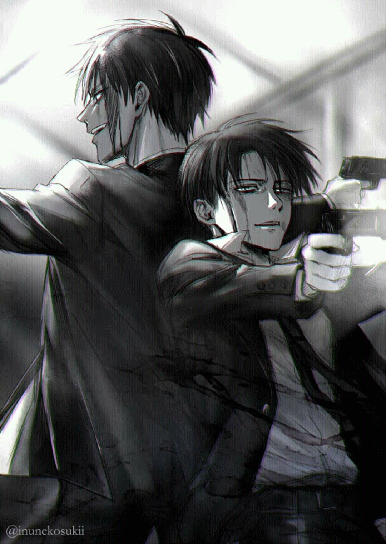 Eren And Levi Gambar Anime Gambar Karakter Cara Menggambar