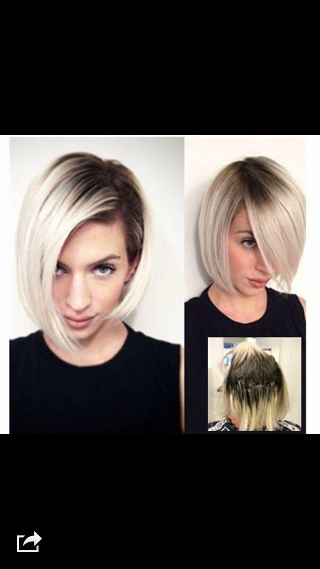 Dark Roots Blonde Hair Bobs Pinterest Dark Roots Blonde Hair - Hair colour just for roots