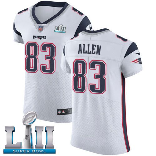3e7e2c38b Nike Patriots  83 Dwayne Allen White Super Bowl LII Men s Stitched NFL  Vapor Untouchable Elite Jersey