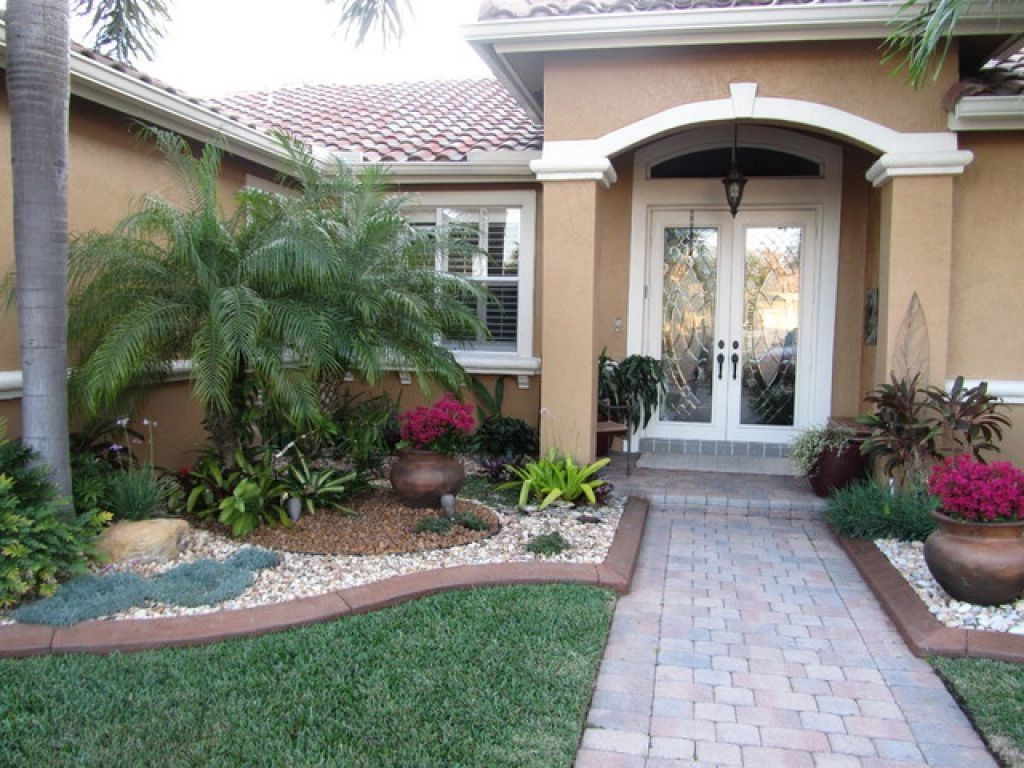 beautiful designs front yard landscaping ideas with palm trees