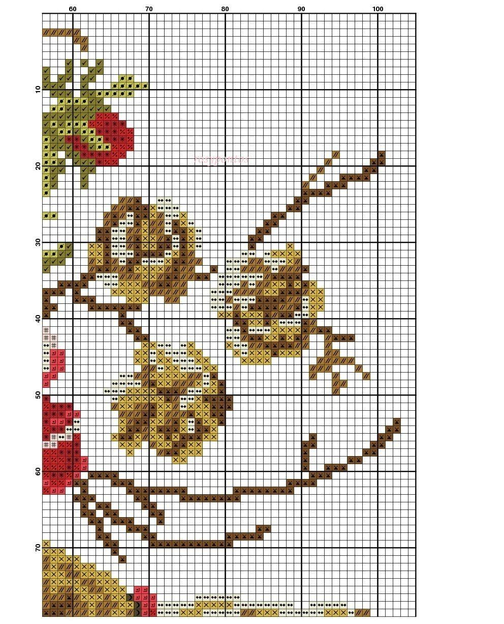 Straw hat | vases | Pinterest | Punto de cruz, Puntos y Punto de ...