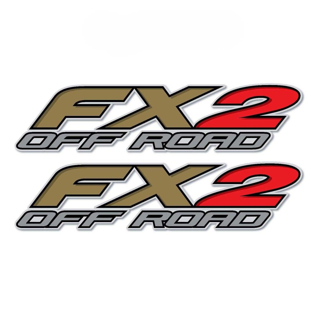 Set Of 2 Fx2 Off Road Truck Bed Side Vinyl Decal Sticker Auto Car