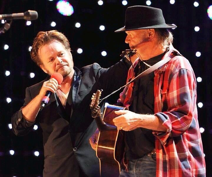 John and Neil Young at Farm Aid.....