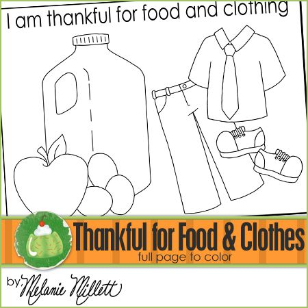 Pages Of Clothes And Food ColoringOfPrintable Coloring Pages