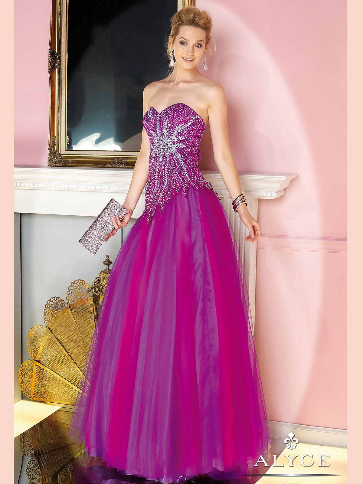 Increíble Prom Vestidos Alyce Ideas Ornamento Elaboración Festooning ...