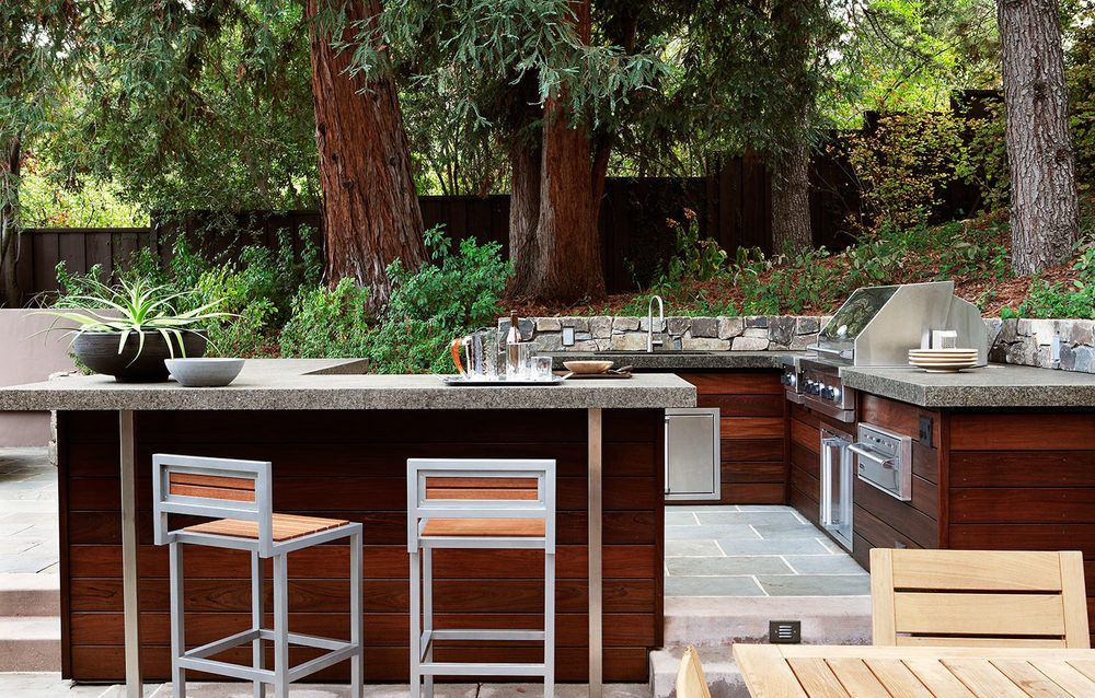 picture of modern rustic lumber outdoor kitchen design picture of modern rustic lumber outdoor kitchen design   outdoor      rh   pinterest com