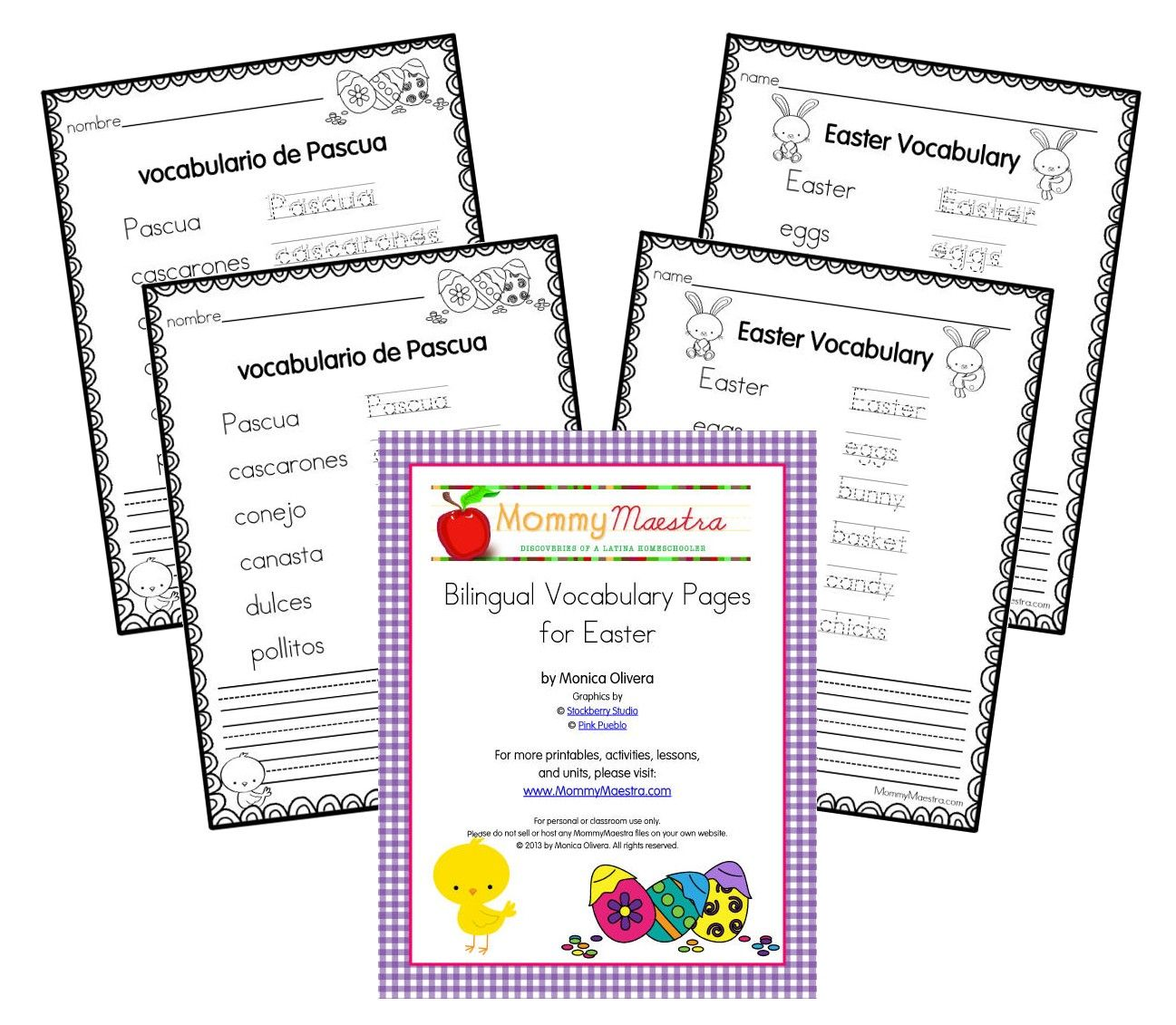 Mommy Maestra Free Spanish Easter Themed Vocabulary
