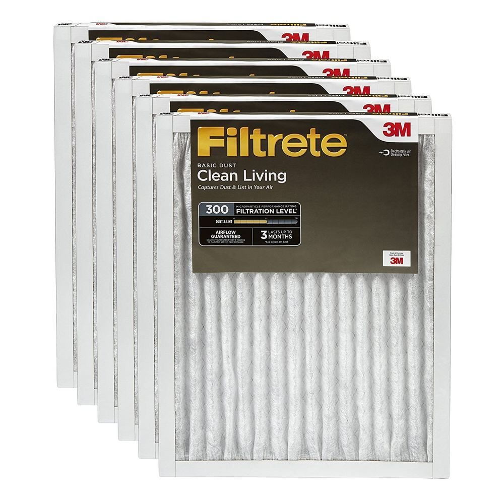 Filtrete Clean Living Basic Dust Ac Furnace Air Filter Mpr 300 16 X 25 X 1 Inc Filtrete With Images Furnace Filters Ac Furnace Furnace