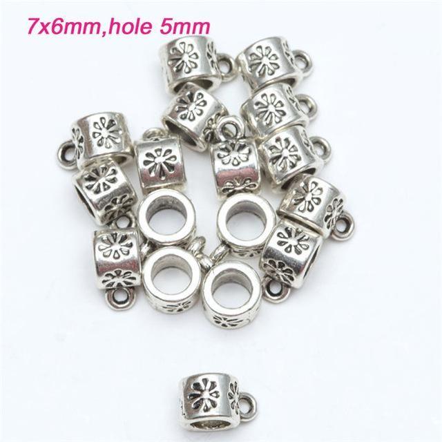 Wholesale 50Pcs Tibetan Silver Pendant Charm BAIL Connectors