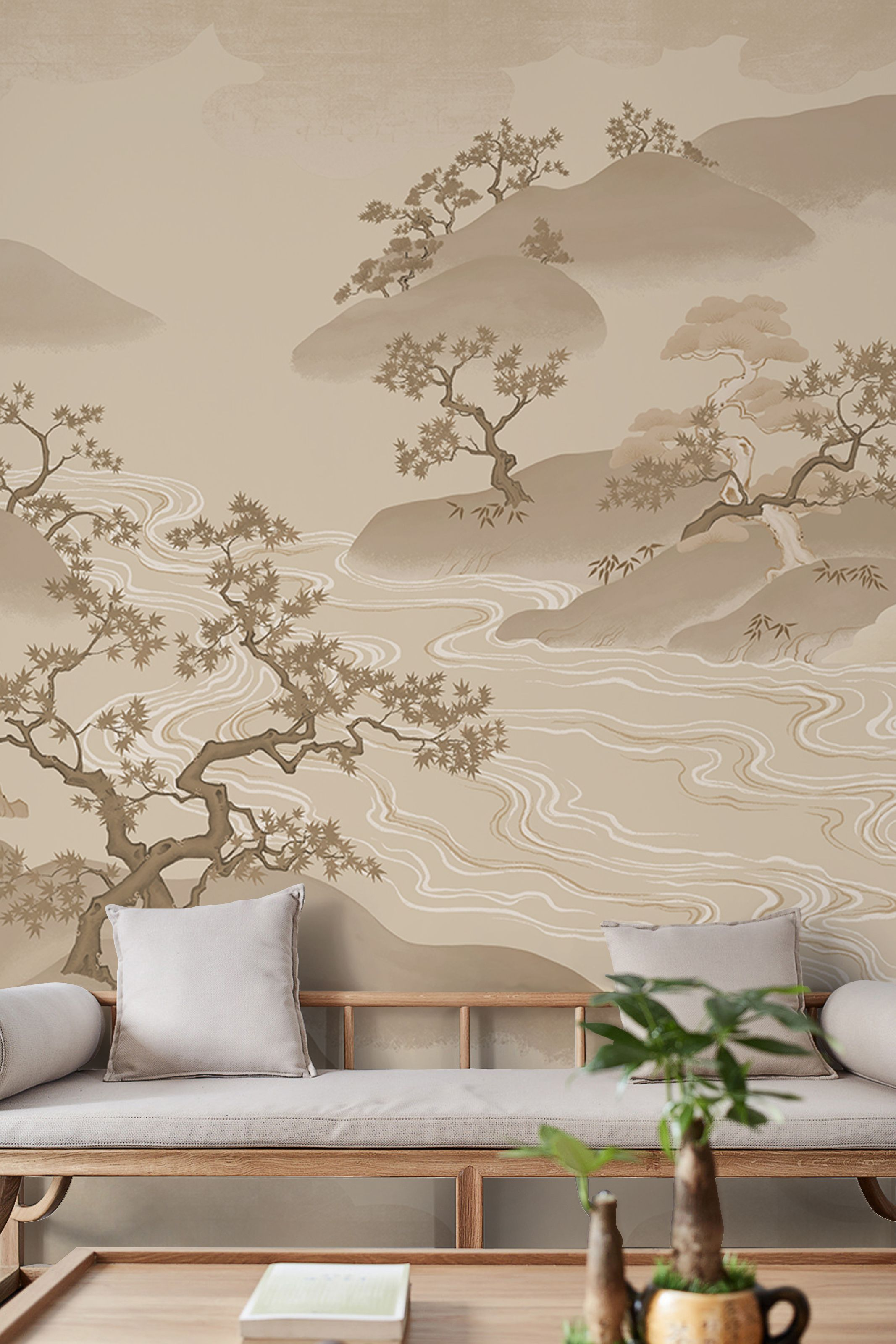 New Chinese Style Mountain Personalized Wallpaper Mural
