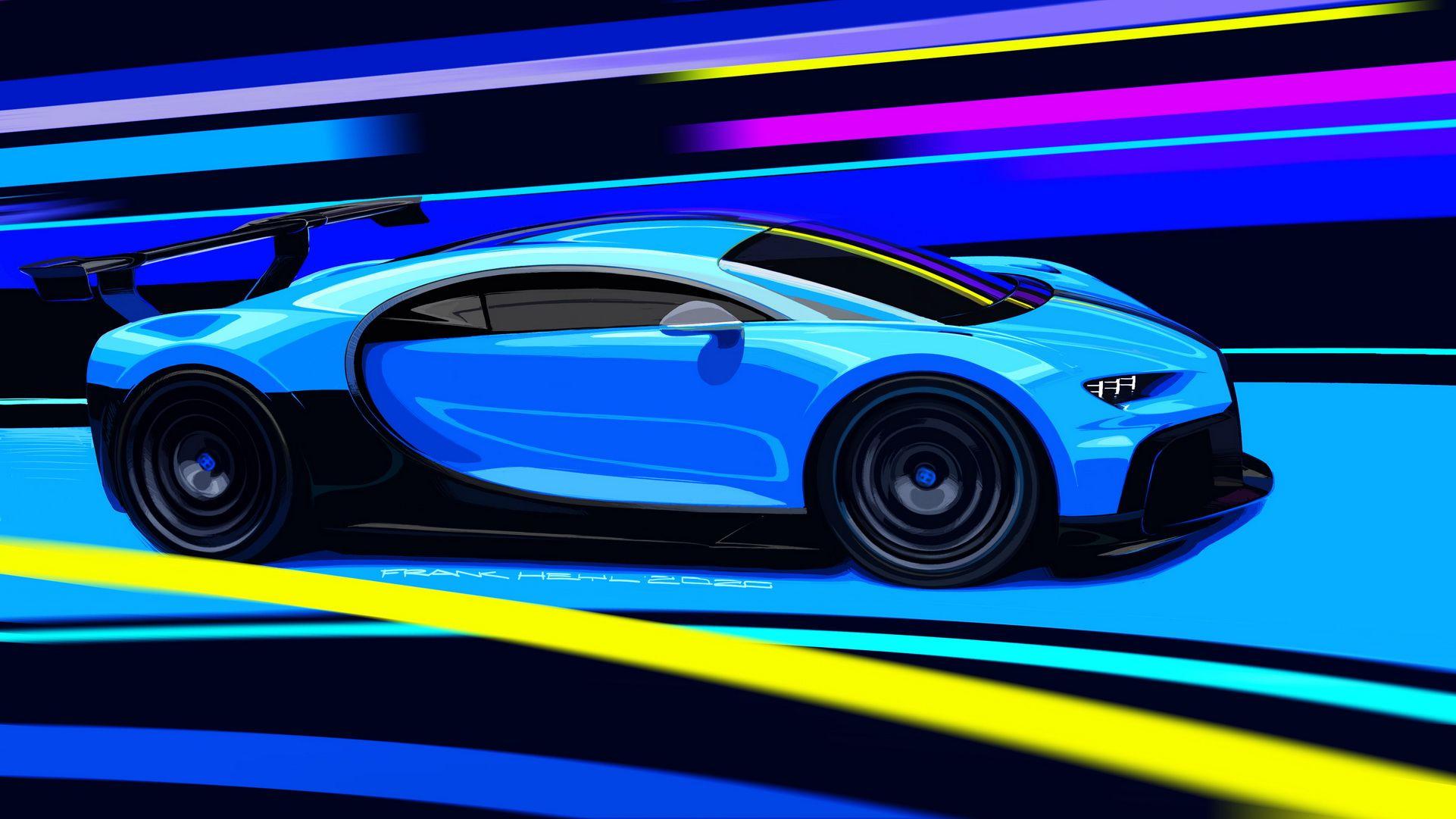 New Bugatti Chiron Pur Sport Breaks Cover With Aero Upgrades Stiffer Suspension Updated Carscoops Bugatti Chiron New Bugatti Chiron Bugatti