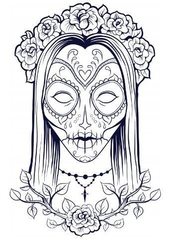 Calaveras Sugar Skull Day Of The Dead Halloween Free