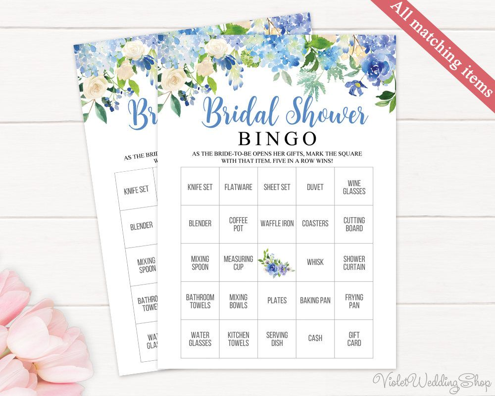Blue Floral How Well Do You Know The Bride Game Template Printable
