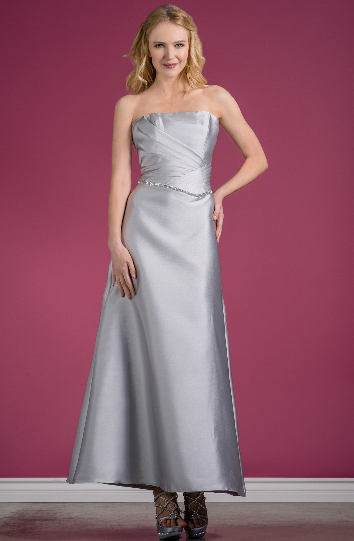 Elegant Taffeta Gown with Rhinestone Detail | Elegant Dresses ...