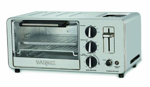 Waring Wto150 4 Slice Toaster Oven With Built In 2 Slice Toaster